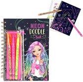 TOPModel Neon Doodle Kleurboek met Neonstiften