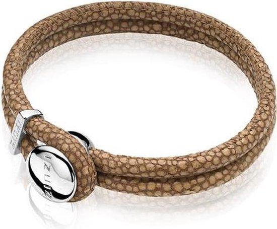 Zinzi roggenleren armband bruin 20cm ZIA846BR