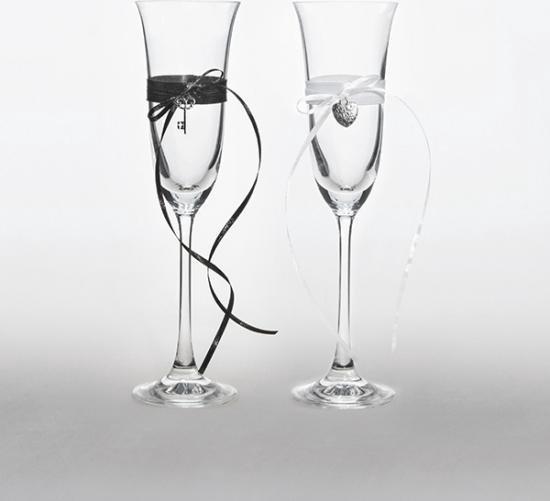 Fonkelnieuw bol.com   Bruiloft champagneglazen met lintjes - Huwelijk glazen YJ-72