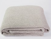 Flamant Home Linen Favo Taupe - Plaid - 140 x 250 cm - Taupe