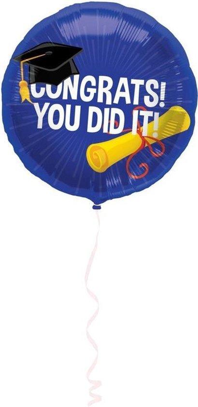 Folie ballon geslaagd/afgestudeerd 45 cm - Feestartikelen versiering - Heliumballon