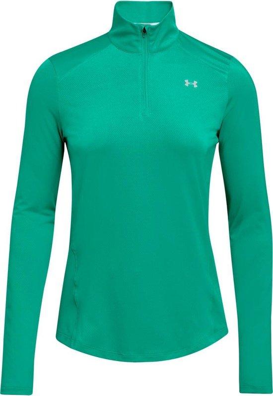 Under Armour Speed Stride 1/4 ZIP Sportshirt Dames - Green Malachite - Maat M - Under Armour