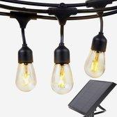 Solar Feestverlichting Prikkabel - 15 Meter 10 Lampen - op Zonne-energie / Zonnepaneel