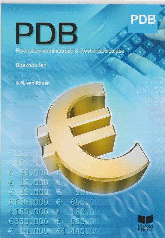 PDB - PDB Financiële Administratie & Kostprijscalculatie Boekhouden - G.M. van Rhoon |