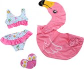 Heless Flamingo Zwemset Poppen Roze 35-45 Cm