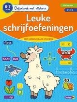 Oefenboek met stickers - Leuke schrijfoefeningen