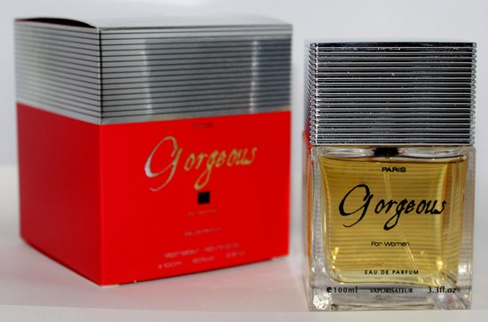 Gorgeous for Women een orientaals parfum, 100 ml met Patchoulli en diverse fruit soorten.