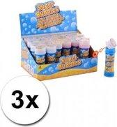 Voordelige kinder bellenblaas 50 ml 3 stuks