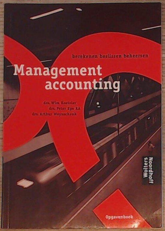 Boek cover Management Accounting / Opgaven van Wim Koetzier (Paperback)
