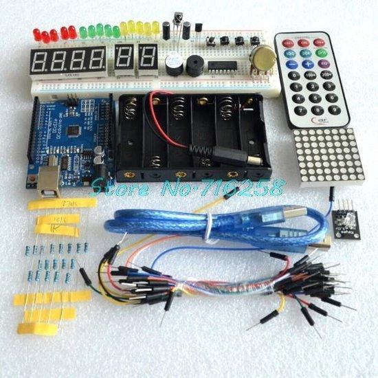 Uitgebreide Starter Kit Voor Arduino - 90-Delige Genuino Starters Set Met Uno R3 Board & Sensors