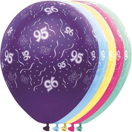 Ballon 95 jaar 5 stuks