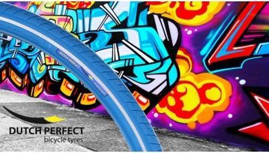 Dutch Perfect No Puncture - Buitenband Fiets - 40-622 / 28 x 1 5/8 x 1 1/2 inch - Blauw