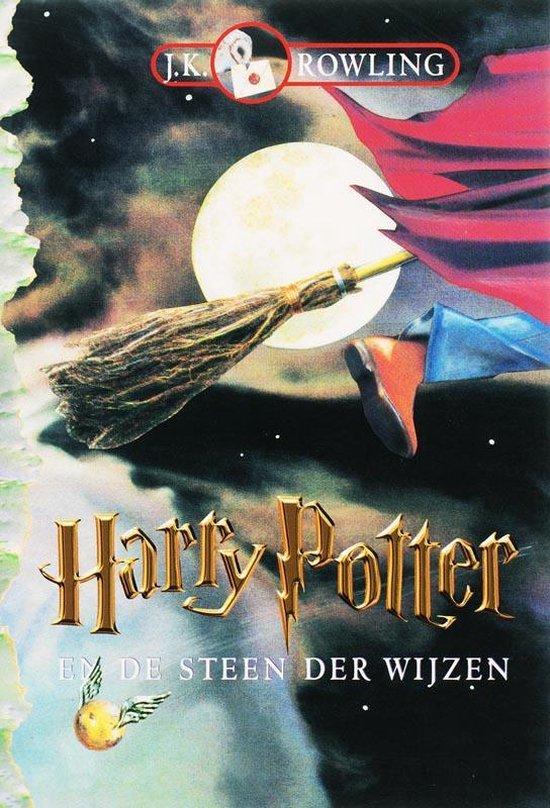 Cover van het boek 'Harry Potter en de steen der wijzen' van J.K. Rowling