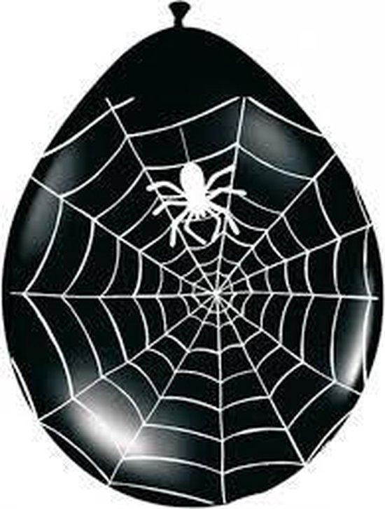 8 x ballonnen - spinnenweb