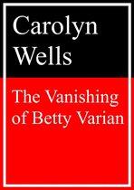 Omslag The Vanishing of Betty Varian