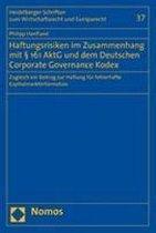 Haftungsrisiken im Zusammenhang mit § 161 AktG und dem Deutschen Coporate Governance Kodex