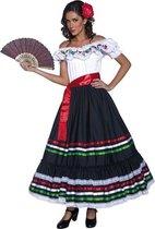 Spaanse flamenco danseres kostuum/ jurk voor dames 44-46 (L)