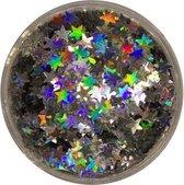 Eulenspiegel Glitter Sterren Zilver - Schmink