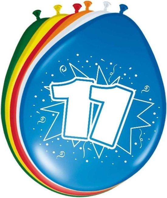8x stuks Ballonnen versiering 11 jaar