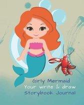 Cute Mermaid Blank Story Book