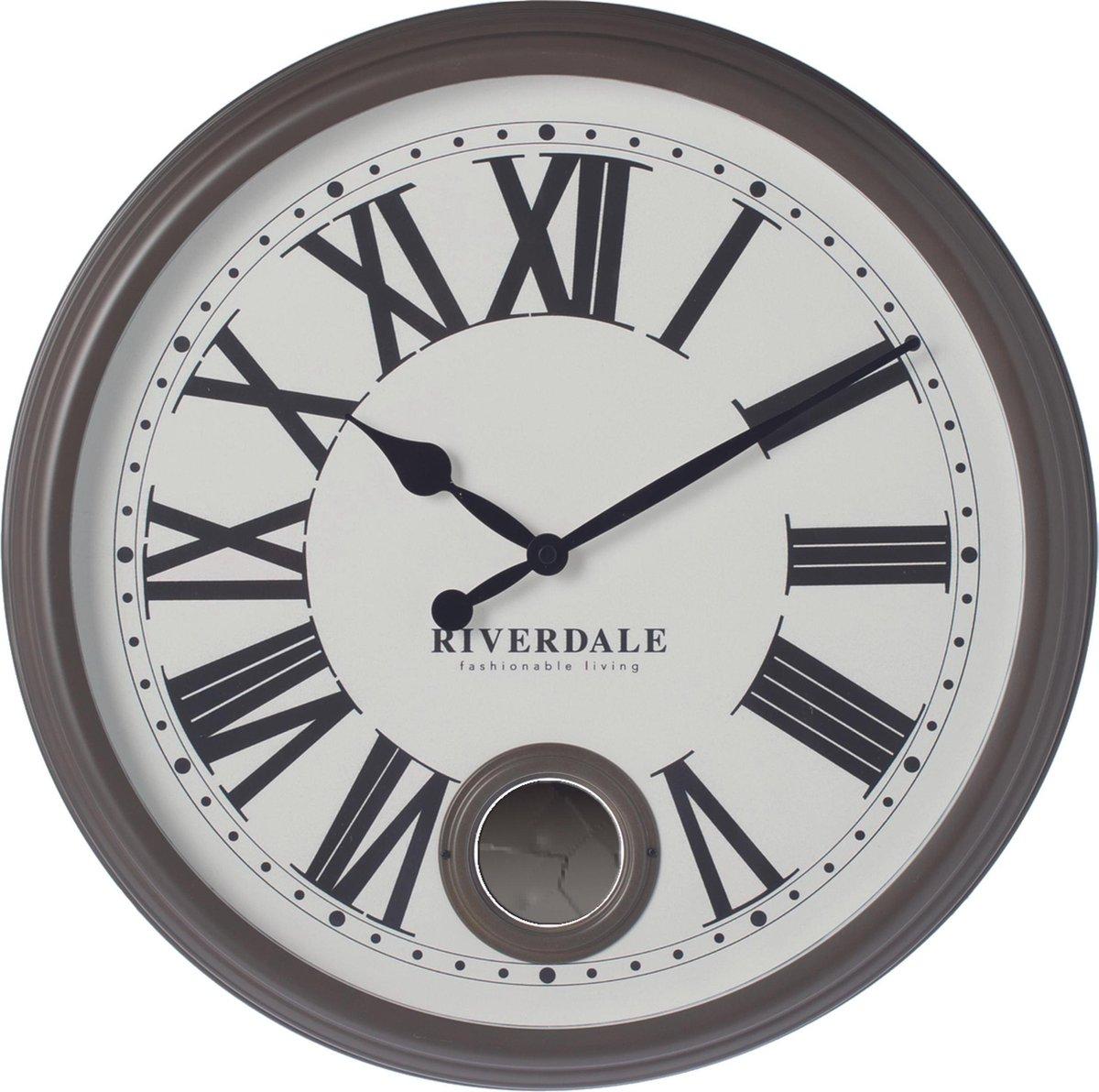 Riverdale Classic - Wandklok - 42cm - bruin - Riverdale