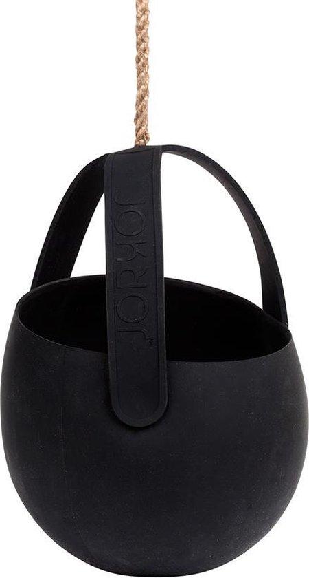 JOKJOR Sling siliconen design Hangplantenbak - Zwart/zwart