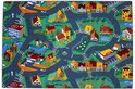 Village - Speelkleed - Multi - Verkeerskleed - 140 x 200 cm