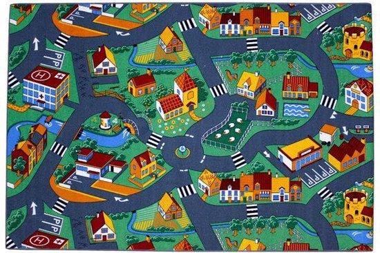 Afbeelding van Village - Speelkleed - Multi - Verkeerskleed - 140 x 200 cm speelgoed