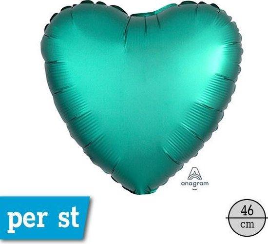 Folieballon Hart Turquoise Matte - 43 Centimeter