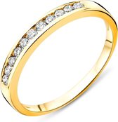 Majestine Eternity Ring 14 Karaat Geelgoud (585) met Diamant 0.20ct maat 48
