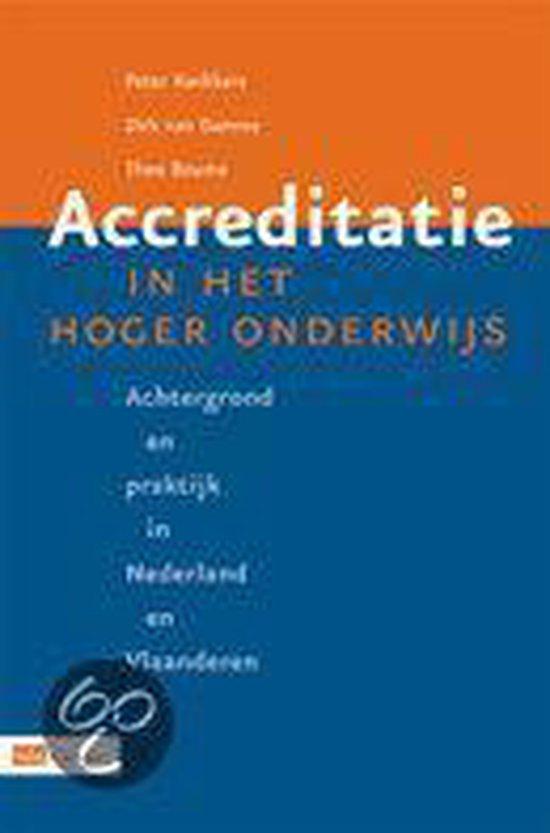 Cover van het boek 'Accreditatie in het Hoger Onderwijs / druk 1'
