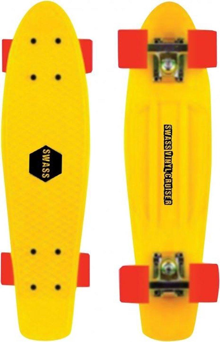 SWASS Vinyl Cruiser Skateboard geel/oranje