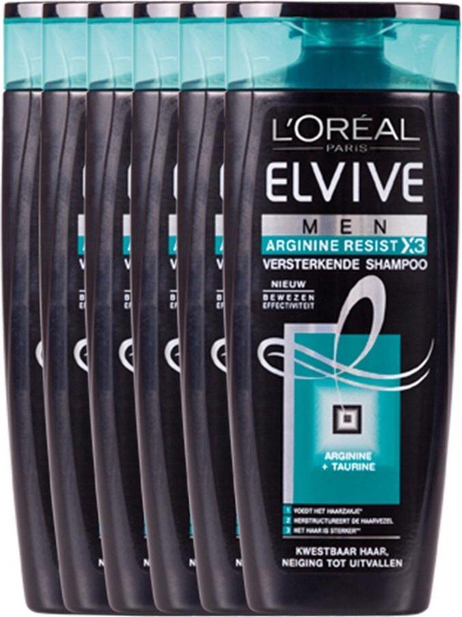 L'Oréal Paris Elvive For Men Arginine Resist X3 - Voordeelverpakking 6 x 250 ml - Shampoo - L'Oréal Paris