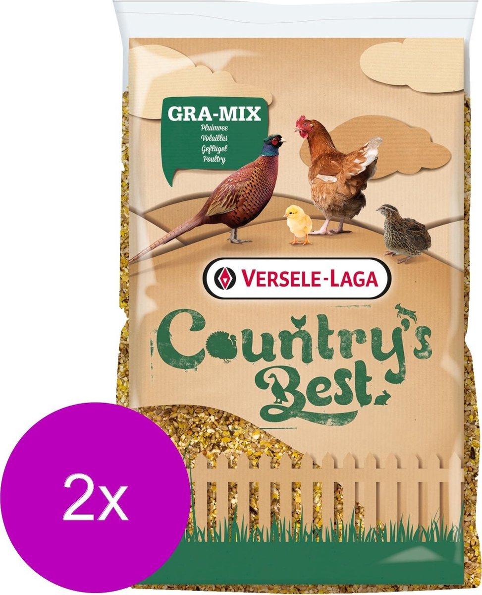 Versele-Laga Country`s Best Gra-Mix pluimveemix met grit - kippenvoer - 2 x 20 kg