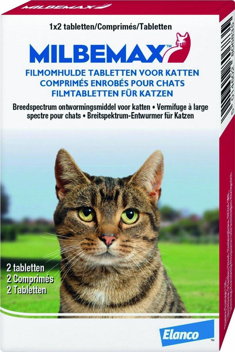 Elanco Milbemax Wormtabletten Grote Kat - Anti wormenmiddel - 2 tab 2-8kg