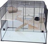 Interzoo hamsterkooi Vision 58 zwart