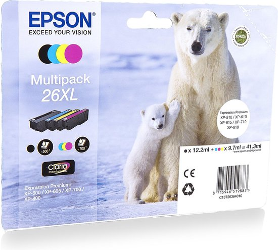 Epson 26XL - Inktcartridge / Multipack - Epson