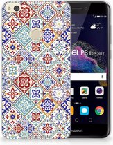 Huawei P8 Lite 2017 Uniek TPU Hoesje Tiles Color