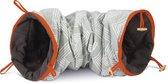 Beeztees Crupa Speeltunnel - Kattenspeelgoed - Grijs - 75 x 25 x 25 cm