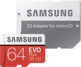 Samsung Evo Plus MicroSDXC 64GB - met adapter