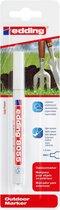 Edding 8055 outdoor-marker 1-2mm ronde punt, wit, per stuk in blisterverpakking