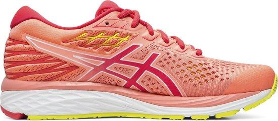 Asics Gel Cumulus 21 Sportschoenen Maat 41.5 Vrouwen oranje roze