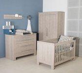 Bebies First - Babykamer Nevada - 3-delige - Ledikant - Commode - Kledingkast - Grijs