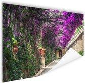 Tunnelvormige pergola Poster 90x60 cm - Foto print op Poster (wanddecoratie woonkamer / slaapkamer)