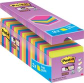 Post-it® Super Sticky Notes - 76mm x 76 mm - 21 blokken + 3 gratis