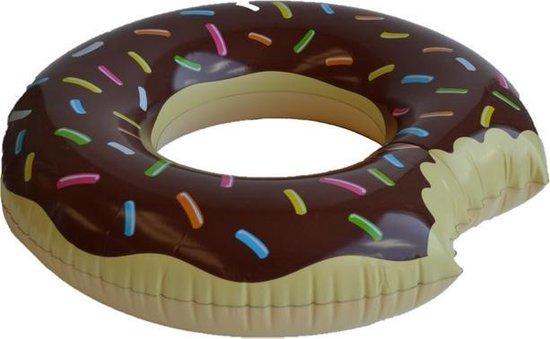 Opblaasbare Donut Zwemring Choco - Ø90cm - Blue Wave