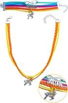 Eenhoorn armband en ketting   LOVE UNICORN sieraden set   JS01