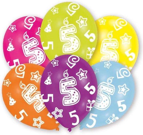 Amscan Ballonnen 5 Jaar 6 Stuks 28 Cm