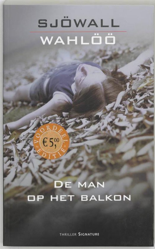 Cover van het boek 'De man op het balkon' van Maj Sjowall en  Sjowall