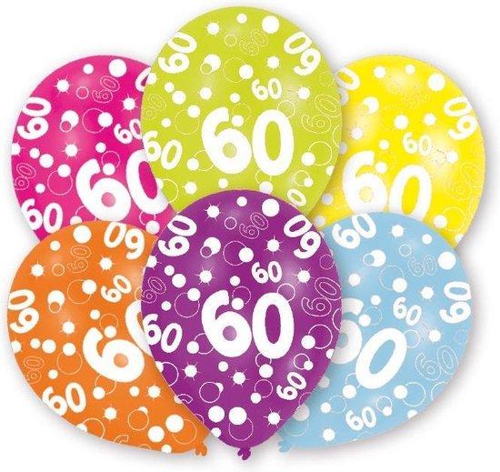 Amscan Ballonnen 60 Jaar 27,5 Cm 6 Stuks